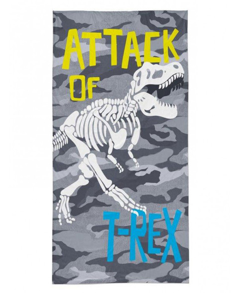 T-Rex Attack Beach Towel