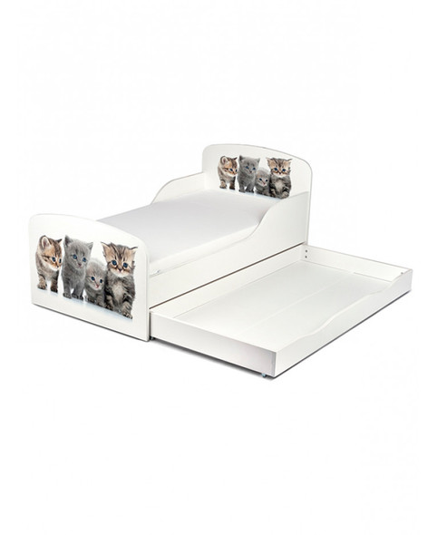 Kitten Toddler Bed With Underbed Storage