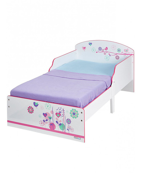 Flowers And Birds Toddler Bed - Bed Only