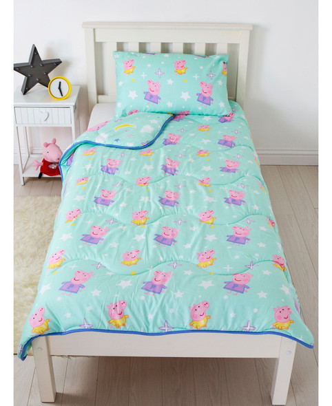 Peppa Pig Dreamer Coverless Single 4.5 Tog Quilt And Pillowcase Set