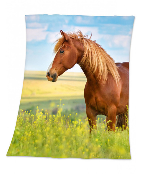 Horse Fleece Blanket