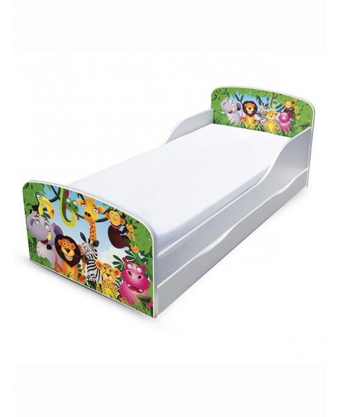 Jungle Toddler Bed With Underbed Storage