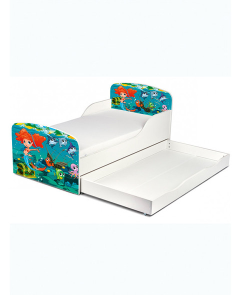 Mermaid Toddler Bed With Underbed Storage