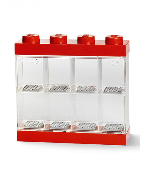 Lego Minifigure Small Display Case - Red