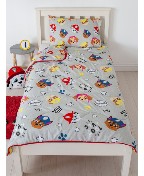 Paw Patrol Buddy Coverless Single 4.5 Tog Quilt And Pillowcase Set