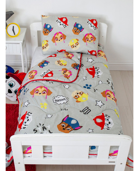 Paw Patrol Buddy Coverless Junior 4 Tog Quilt And Filled Pillow Set