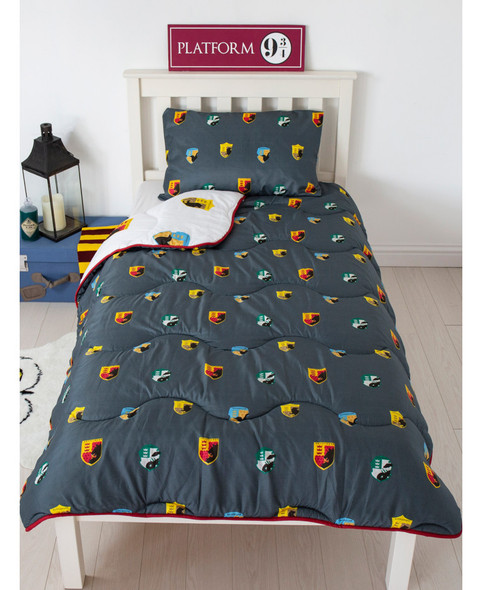 Harry Potter House Coverless Single 10.5 Tog Quilt And Pillowcase Set