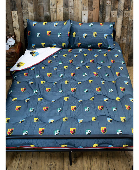 Harry Potter House Coverless Double 10.5 Tog Quilt And Pillowcase Set