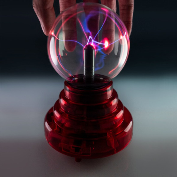 Battery Operated 3-inch Plasma Ball with Red Base