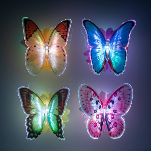LED Optic Fibre Butterfly Assorted - Sent Random