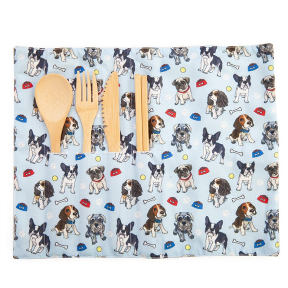 Dogs Eco-to-Go Bamboo Cutlery Set