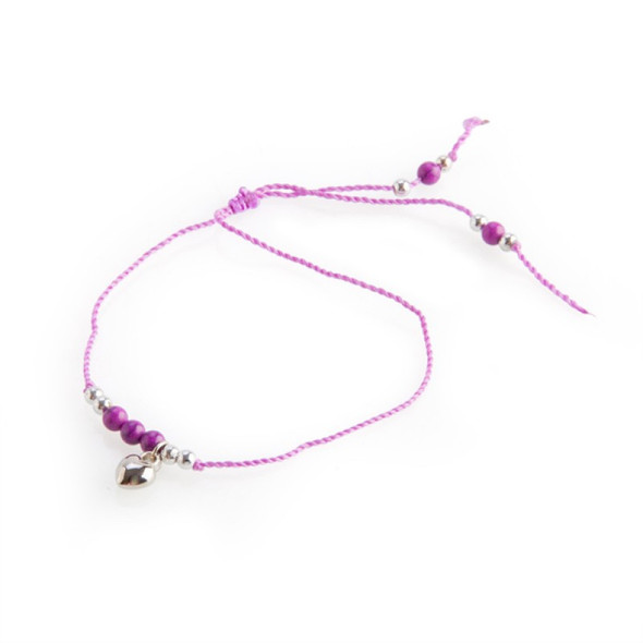 Heart Charm Friendship Bracelet - Random Sent