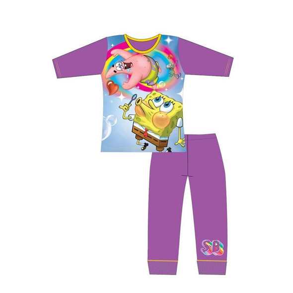 Girls Spongebob Purple Winter Sleepwear