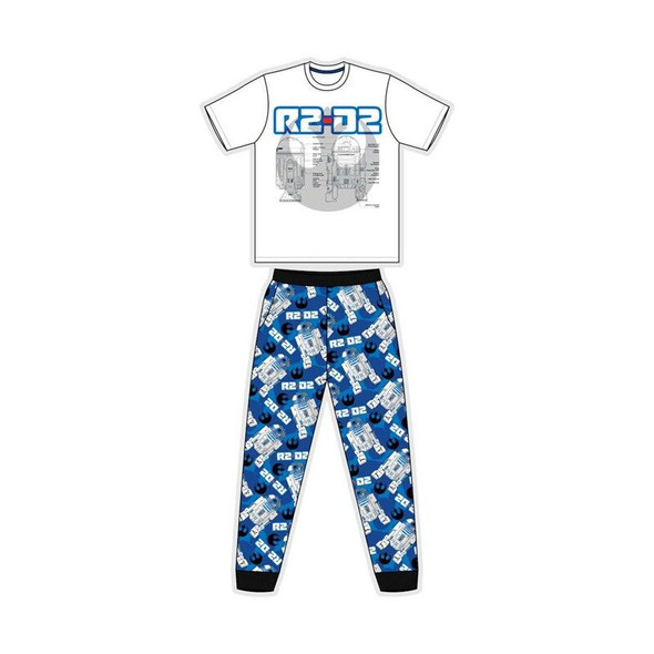 Men's White/Blue Star Wars  Summer Sleepwear