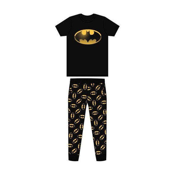 Men's Black DC Batman Summer Sleepwear