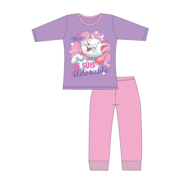 Girls Disney Marie Lilac Winter Sleepwear