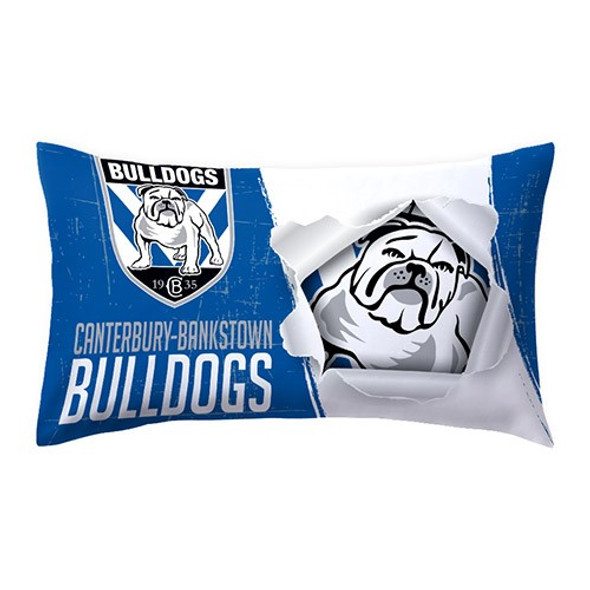 Bulldogs Double Sided Single  Pillow Case