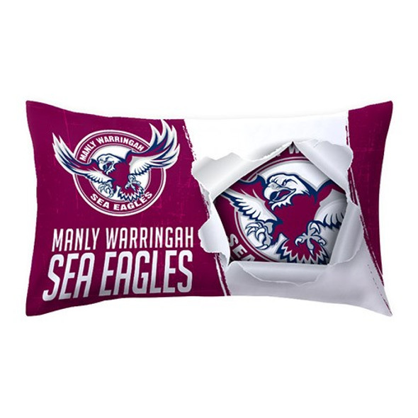 Sea Eagles Double Sided Single  Pillow Case