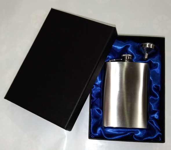Stainless Steel Hip Flask - Gift Boxed