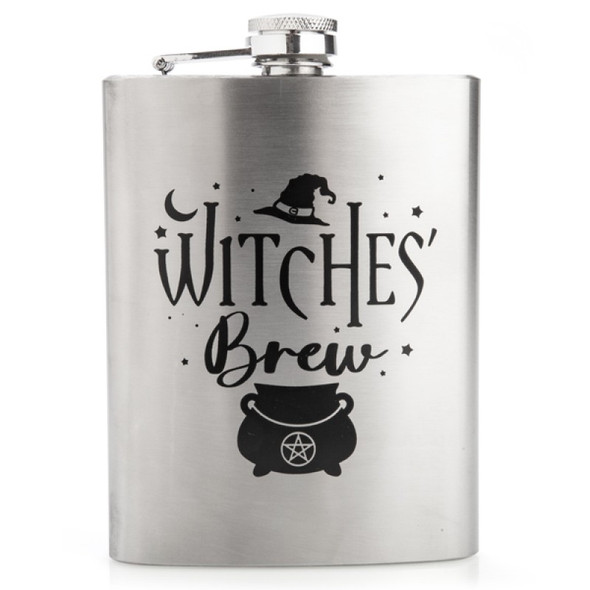 Witches' Brew Metal Flask