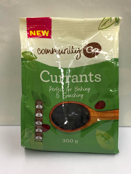 Community Co. Currants 300g  (Best before 19/08/21)