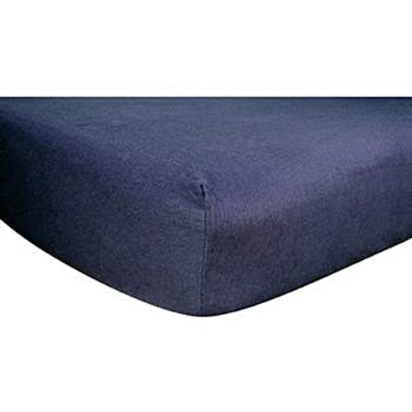Deluxe Flannel Fitted Crib Sheet - Navy