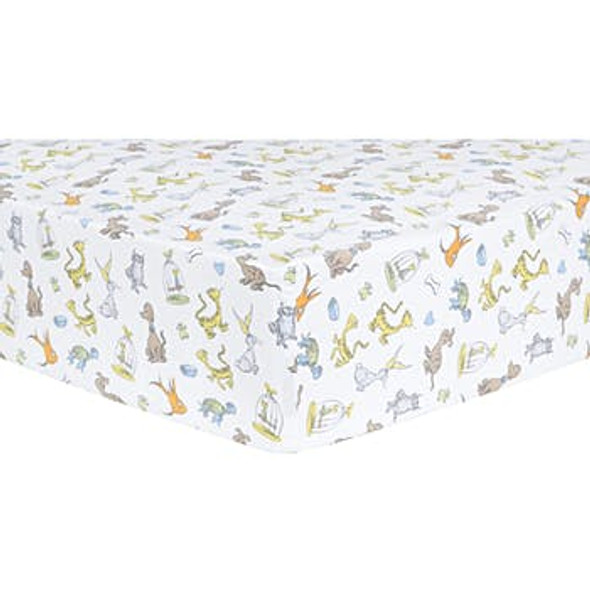 Fitted Crib Sheet - Dr. Seuss What Pet Should I Get