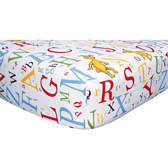 Fitted Crib Sheet - Dr. Seuss ABC