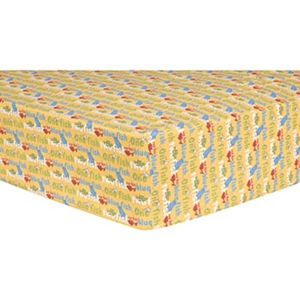 Fitted Crib Sheet - Dr. Seuss One Fish Two Fish