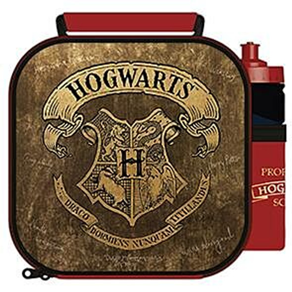 Harry Potter 3D Embossed Lunch Bag with Bottle