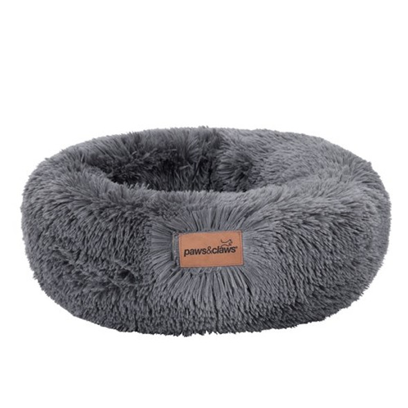 Small Calming Plush Bed - Grey