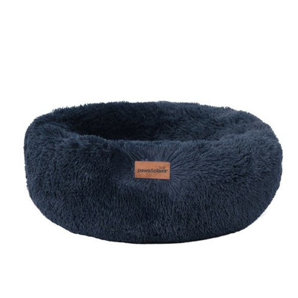 Small Calming Plush Bed - Navy