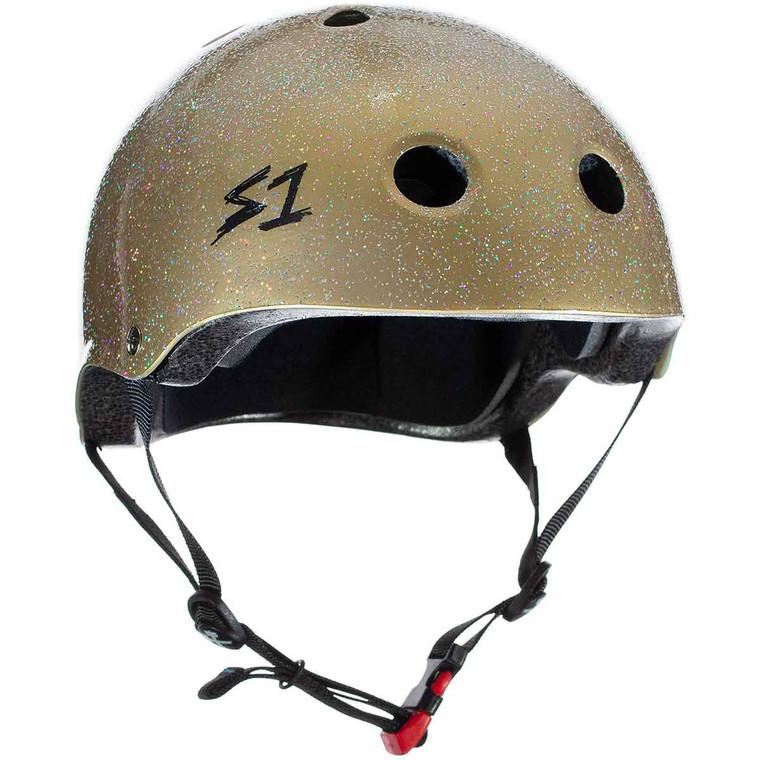 S1 Mini Lifer Youth Helmet - Gold Glitter
