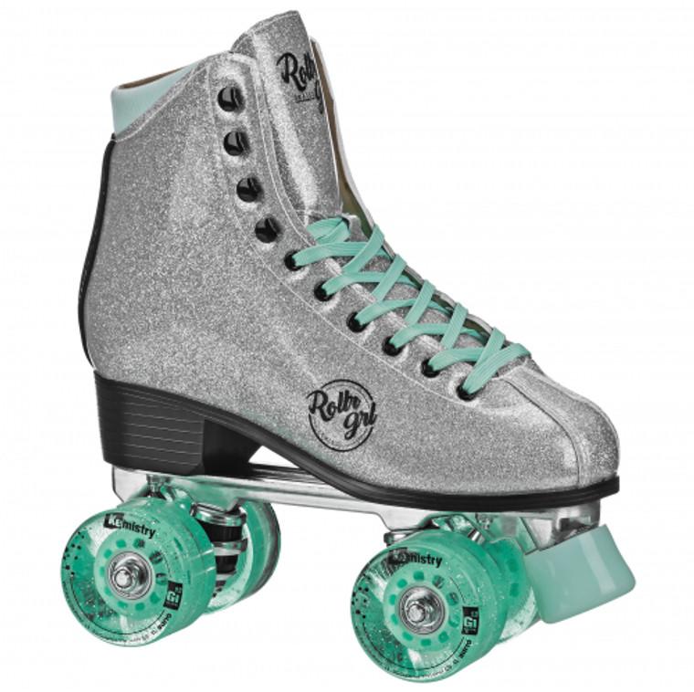 RollerGrl Astra Skates - Glitter Silver