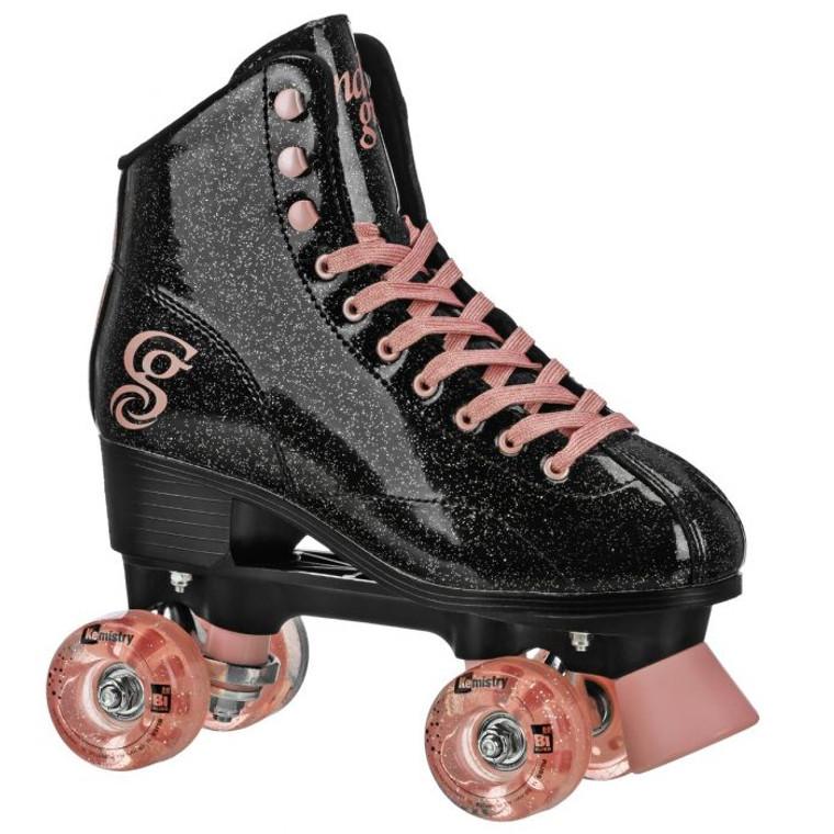 Candi Grl Sabina Skates - Black/Rose Gold
