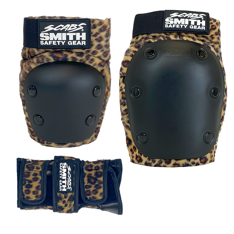 Scabs Roller Adult 3 Pack Pads - Leopard