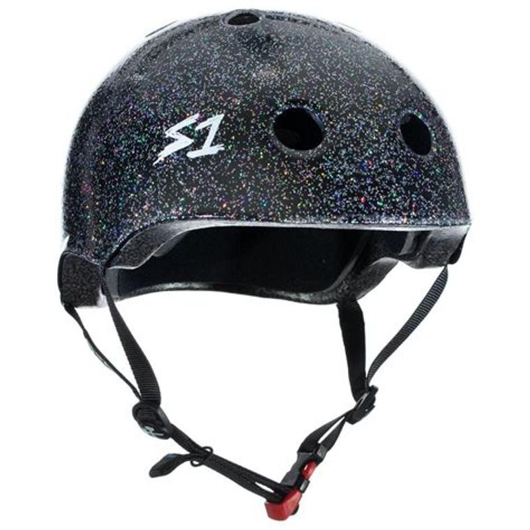S1 Mini Lifer Youth Helmet - Black Glitter