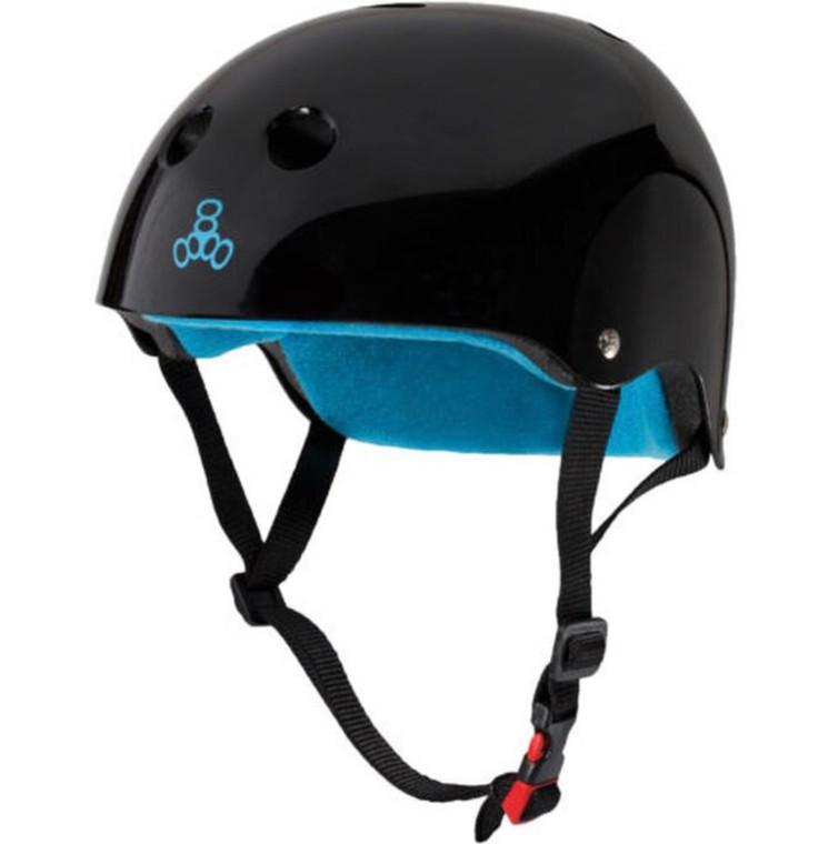 Triple 8 Certified Sweatsaver Helmet - Black Gloss