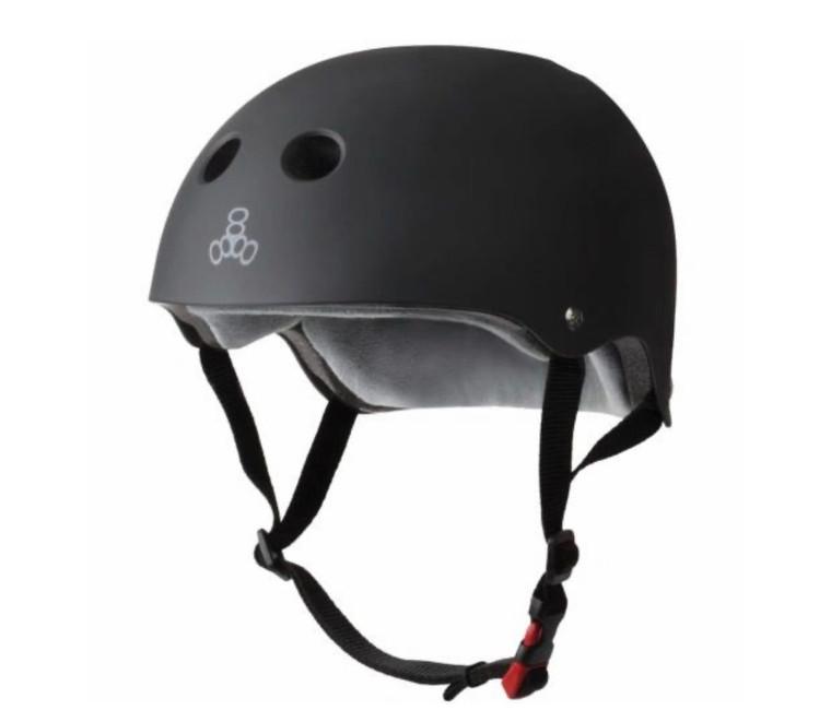 Triple 8 Certified Sweatsaver Helmet - Black Rubber