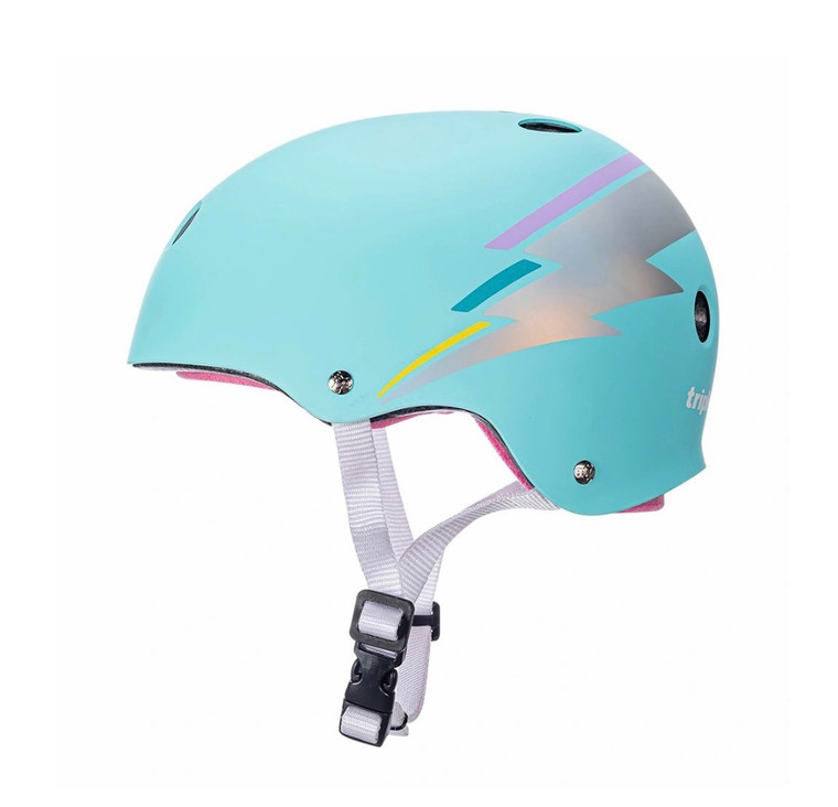 Triple 8 Certified Sweatsaver Helmet - Teal Hologram