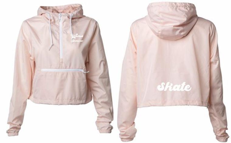 Cropped Skate Windbreaker - Pink