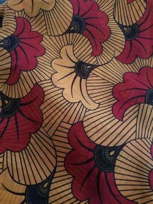 AFRICAN PRINT HIJAB - Floral O & R (Georgette)
