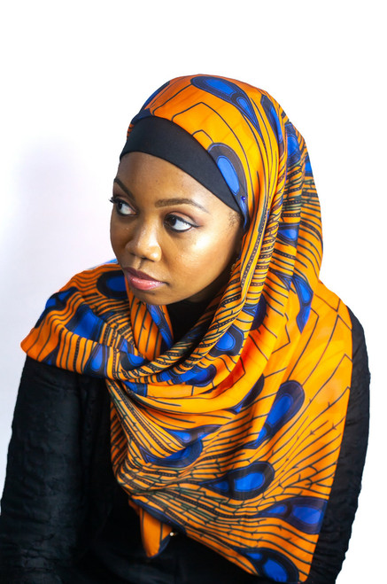 African Print Hijab - Feather B & O (Georgette)