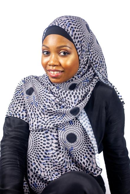 African Print Hijab - Plate B & B (Chiffon)