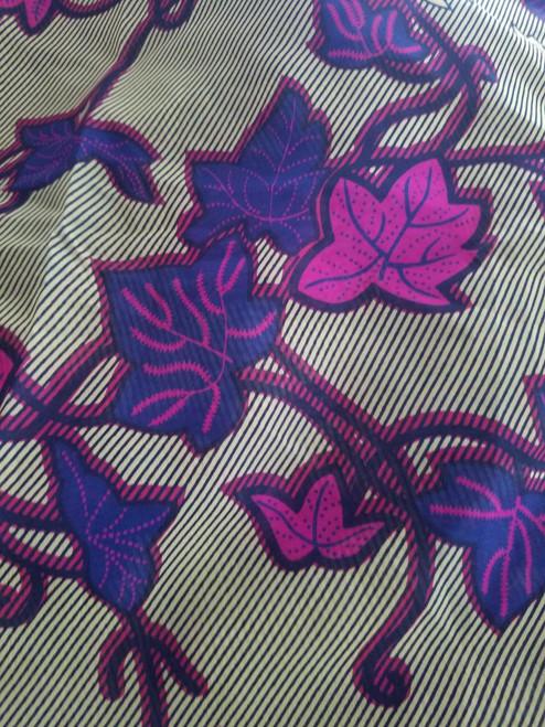 African Print Chiffon Hijab - Leaves P & R