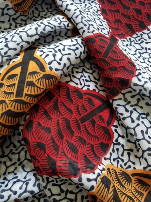 African Print Chiffon Hijab - Trees O & R (NEW)