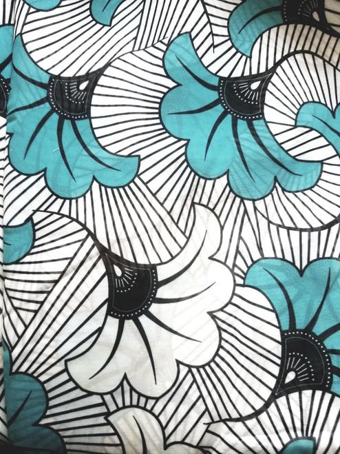 African Print Chiffon Hijab - Floral T & W