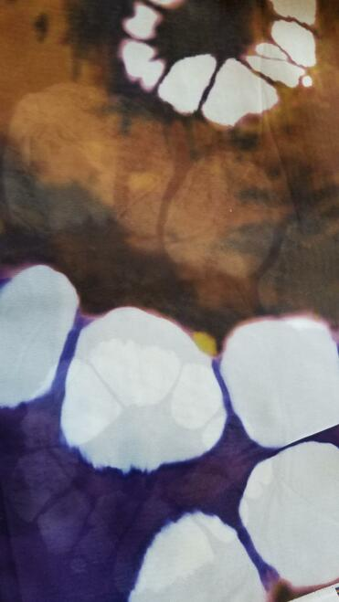 African Print Chiffon Hijab - Tie Dye Brown & Purple