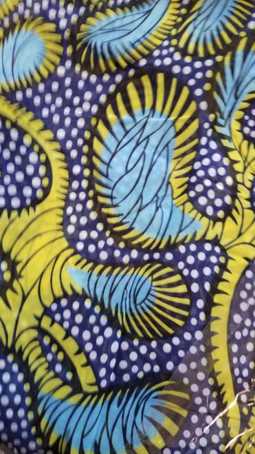 African Print Chiffon Hijab - Color Swirls