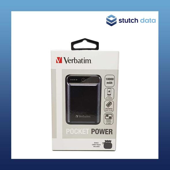 Image of Verbatim Pocket Power Pack 10,000 mAh - Graphite 65791 in product box